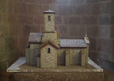 Maqueta de l'església del monestir de l'Estany